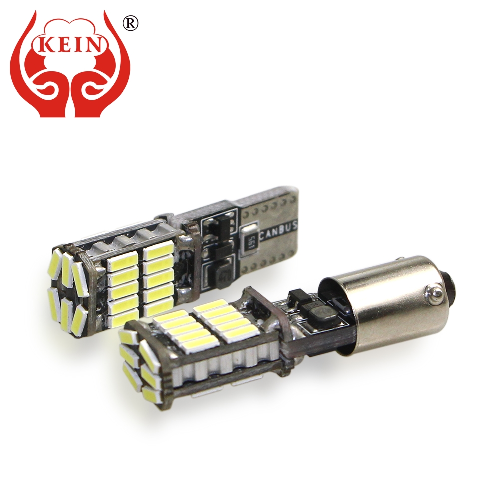 KEIN 2pcs BA9S T10 <font><b>LED</b></font> W5W Bulb 26 smd <font><b>H21W</b></font> BAX9S <font><b>BAY9S</b></font> T4W H6W <font><b>led</b></font> car 194 4014 Side Wedge Light Interior Signal Lamp white 12V image