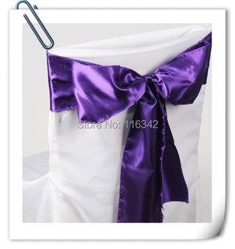 Marious Multi-Colors 100PCS 17x275cm  Premium Satin Chair Cover Sash  Wedding Party Banquet Decor Chair Sashes Free Shipping