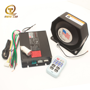 Universal Car Horn Police Siren 200W 12V Wireless Control Alarm Horn System Multi-tone Super Loud Train Speaker Megaphone Sound