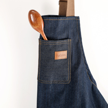 New Denim Apron For Chef Kitchen Cooking BBQ Kitchen Apron For Woman Man Adjustable Pocket Chef Works Bib Smock Children Apron