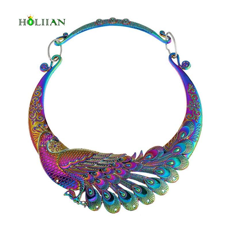 Grande Marque européenne Ethnique Coloré Dragon Ball Phoenix Chanceux collier big déclaration maxi collier et pendentifs femme nouvelle Hyperbole