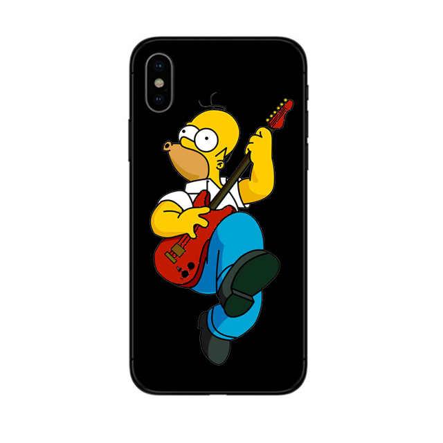 Homer J.Simpson Hard Pc Telefoon Gevallen Voor Iphone 6 6S 7 8 Plus X Xr Xs Max 5 5S se 11 Pro Bart Simpson Grappige Cartoon Cover Plastc