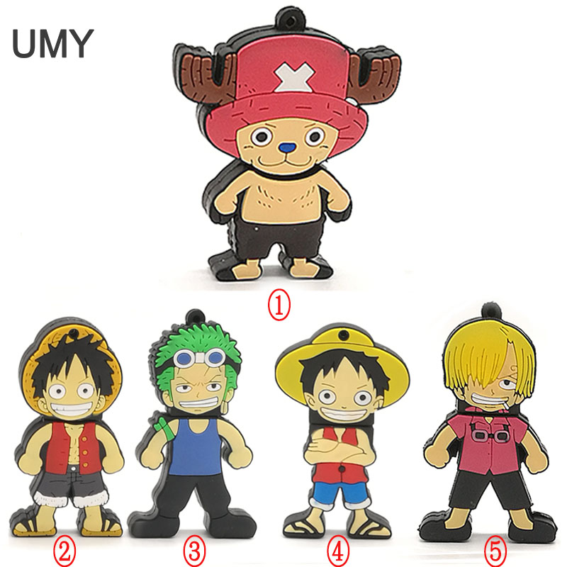 Cartoon One Piece Usb Flash Drive 64GB 32GB 16GB 8GB 4GB Pen Drive Real Capacity Memory Stick Lovely  Luffy U Disk Pendrive