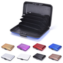 8 Colors Waterproof Metal Credit Card Holder Stainless Steel Aluminium Case Box Business ID Credit Card Holder RFID Scan Cover(China)