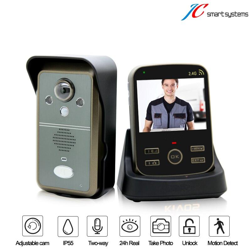3 5 Inch TFT Wireless font b Door b font Phone Video Doorbell Intercom Home Security