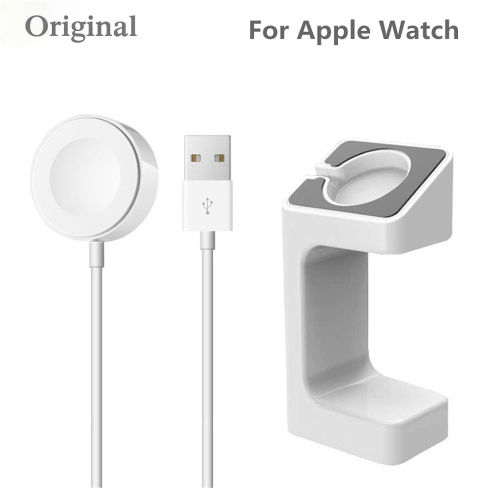 1m Magnetic Charging Cable For Apple Watch Charger + Charger Stand For Apple Watch 3 2 1 Holder 38mm/42mm(China)