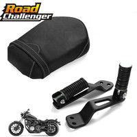 1Set Rear Passenger Foot Peg Footrest & Pillion Passenger Seat Cushion for XVS950 Star Bolt Yamaha 2014 2016