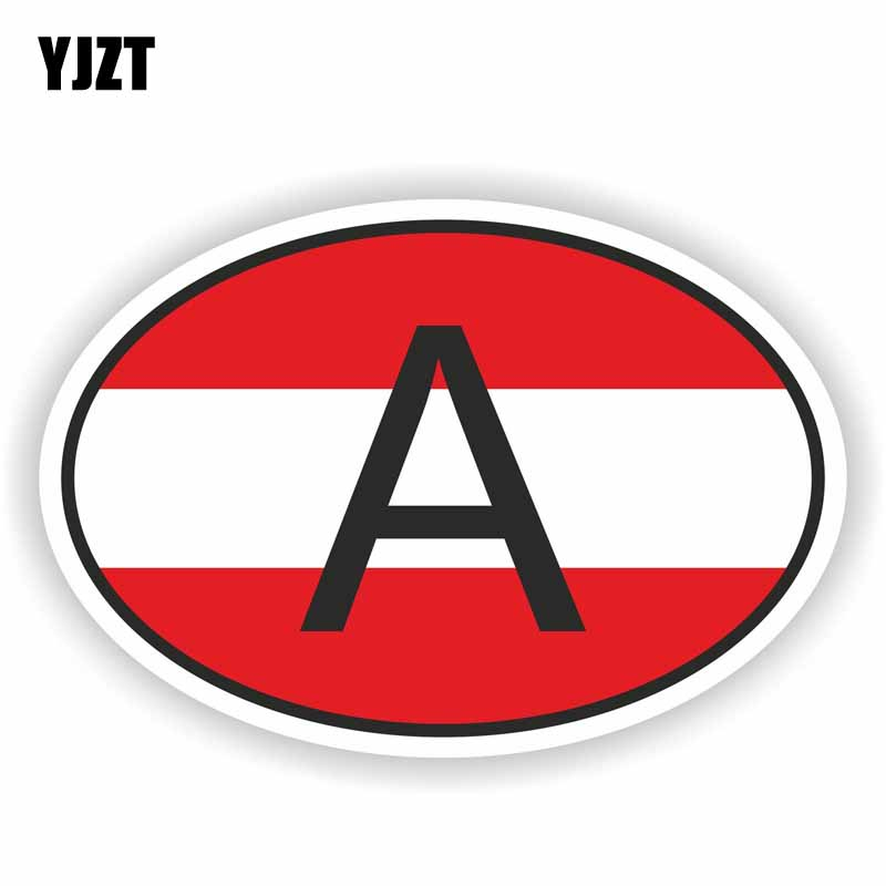 Austria Country Flag Reflective Decal Bumper Sticker