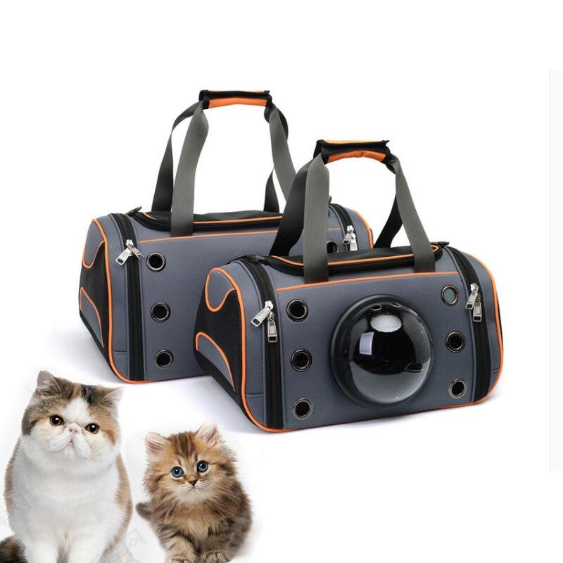 Animaux respirant toile capsule pet backpackspacks Sortant chat brochette épaule chat cages petit animal valise chat diagonale dans Cages portatives et poussettes de Maison & Jardin