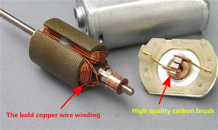 Dc motor carbon brush motor high speed model 180 motor oversize cooling  hole overstriking copper wire free shipping
