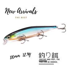 1pcs MINNOW Fishing lure A+ 11cm 12.9g Wobblers Crankbait  HOT high quality professional lifelike colorful lures Lake river