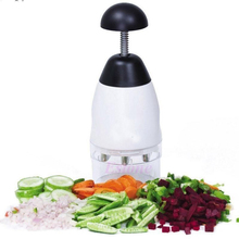 Nueva Práctico Útil la Cebolla El Ajo Slap Chop Food Chopper Fruit Vegetable Trituradora Cortadora Rallador de Cocina