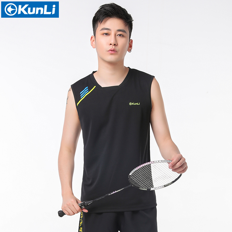 New original kunli mens badminton shirt sports clothing for Dress shirts for athletic guys