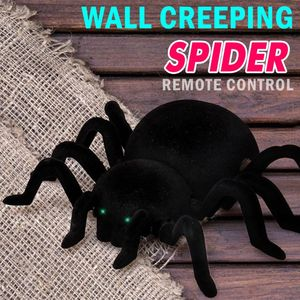 Remote Control Spider Scary Wolf Spider Robot Realistic Novelty Toys Halloween Gifts 95AE(China)