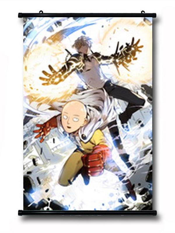 Domácí dekorace One-Punch Man Anime Saitama & Genos 90 * 60CM Wall Scroll Poster # 40181