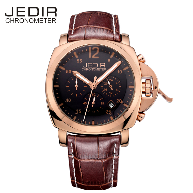 JEDIR Sport Mens Wathes Top Brand Luxury Quartz Wrist Watch for Men Business Watch Men Chronograph Male Clock Erkek Kol Saati 2017 mens business watches top brand luxury chronograph watch sport quartz wrist watch men clock male relogio erkek kol saati