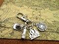high quality  keychain antique silver fire,fireman  hat,FIRE DEPT.   keychain
