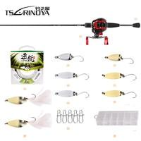 TSURINOYA Fishing Combo DEXTERITY 1.89m Ultralight Casting Rod + XF 50 Baitcasting Fishing Reel 10BB 6.6:1 100m Line Fishing Set