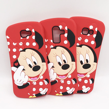 For Samsung Galaxy J8 2018 Case J6 Prime J4 Plus Coque 3D Cute Cartoon Minnie Soft Silicone Phone Cover J2 G532F J7