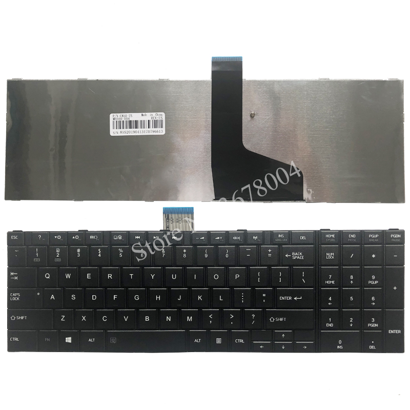 NEW for TOSHIBA SATELLITE C850 C850D C855 C855D L850 L850D L855 L855D L870 L870D US Black notebook keyboard image