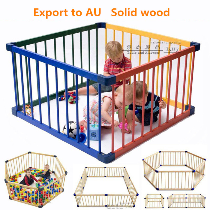 Cm pcs solid wood baby toddler game fence child