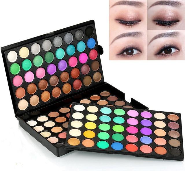 120 Cores de Sombra Paleta Da Sombra de Maquiagem Comestic Concurso 3 Camada de Maquiagem Sombra de Olho Conjunto Kit Tamanho Completo Luminosa