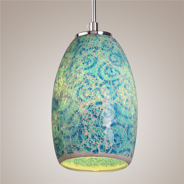 New Traditional Tiffany Single Lamp Vintage Painting Metal Pendant ...