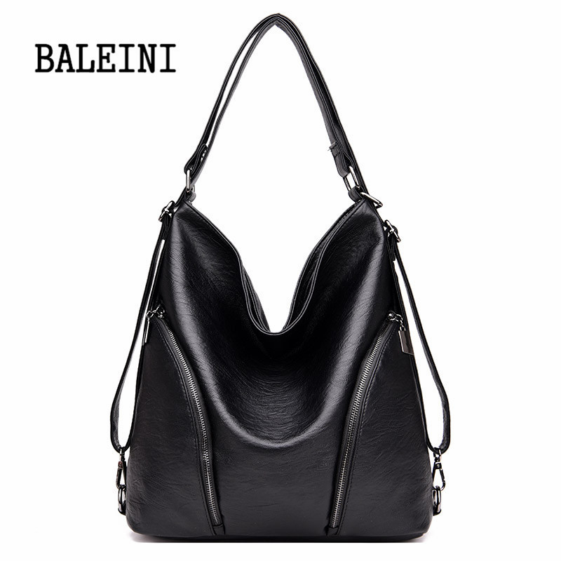 Genuine Leather Handbags Big Women Bag High Quality Casual Female
