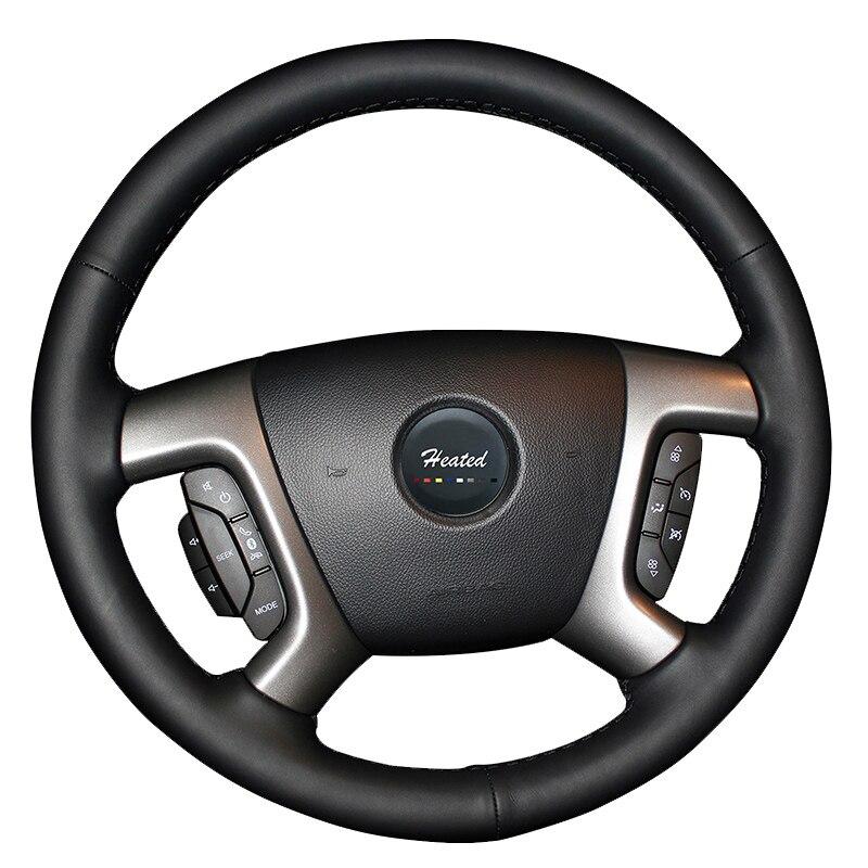 Genuine Leather Braid On the Steering Wheel Cover for Chevrolet Captiva 2007 2014 Silverado GMC Sierra