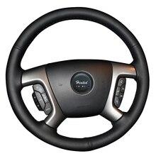 Nappa Genuine Leather On Car Steering Wheel Cover for Chevrolet Captiva 2007-2014 Silverado GMC Sierra 2007-2013 Daewoo Winstorm