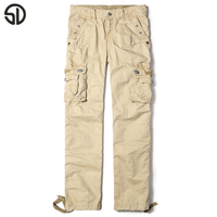 2017 Spring Hot Sales Casual Pants Men High Quality Military Cargo Pants Loose Work Pants Camo