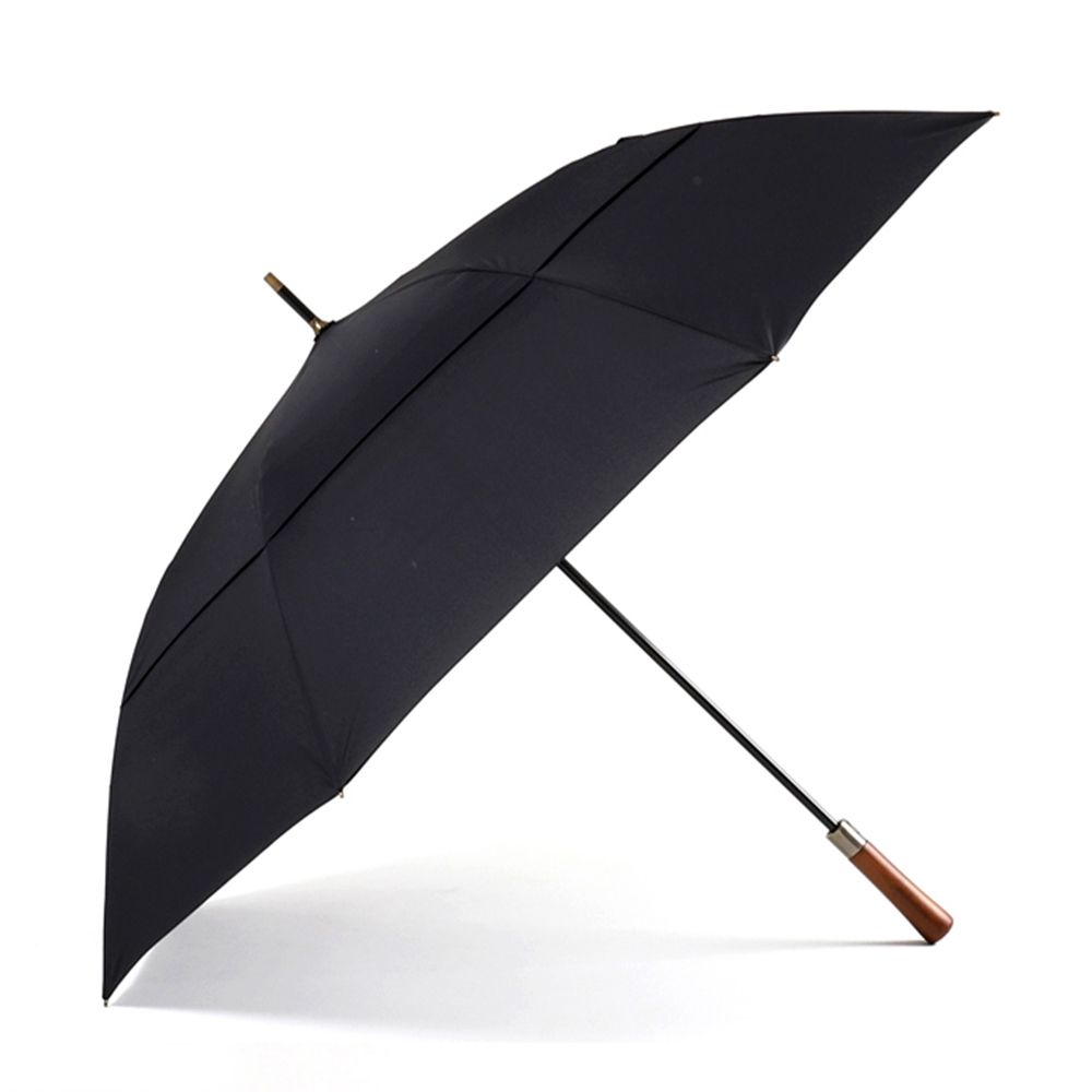 Image 5 - Parachase Large Long Umbrella Rain Men Women Wooden Handle Double