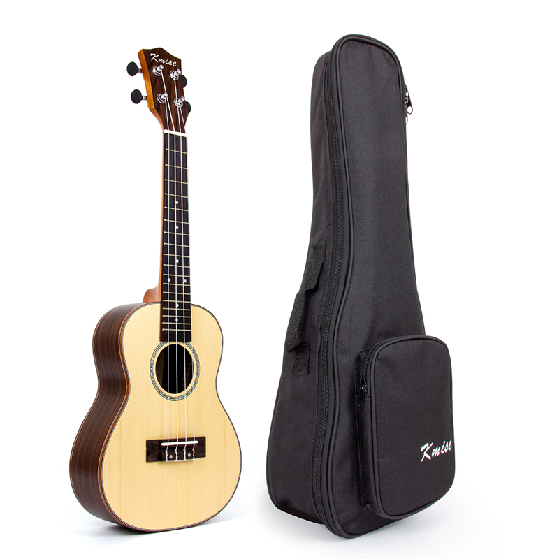 Concert Ukulele Uke Acoustic Hawaii Guitar with 23 Inch Spruce Rosewood acouway 21 inch soprano 23 inch concert electric ukulele uke 4 string hawaii guitar musical instrument with built in eq pickup