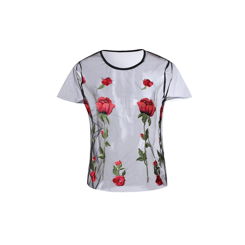 HTB146wCQpXXXXa2aXXXq6xXFXXX8 - Embroidery Romantic Flower Floral Red Rose T-Shirt PTC 71