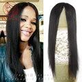 Системы человека волосы ботворезы Более плотность Средней части Супер тонкая кожа парик система замены волос Руки связали mono парик 15*17 см