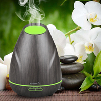 EASEHOLD 400ml Essential Oil Diffuser Wood Grain Ultrasonic Cool Mist Humidifier With Low Water Protection 4