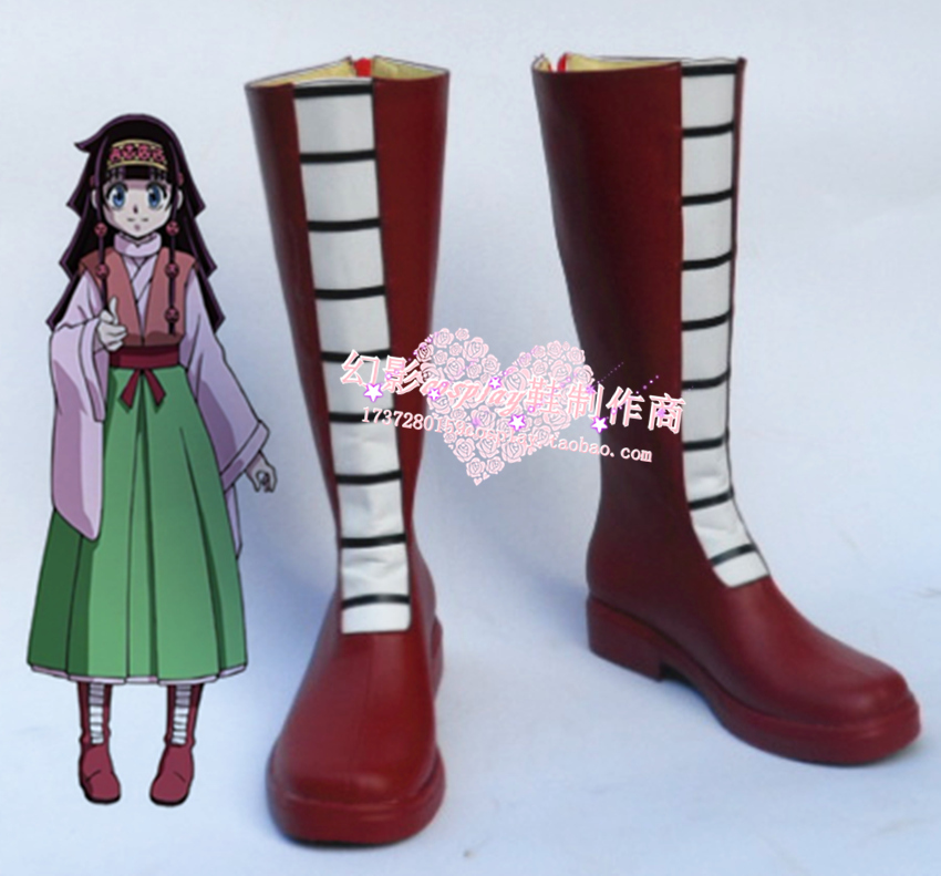 hunter x hunter  Aluka  Zoldyck  Cosplay Shoes Boots Custom-Made