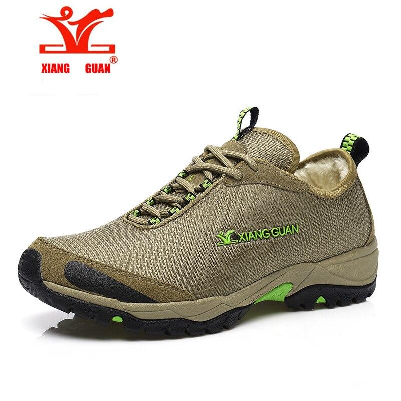 chaussures Store XIANGGUAN Outdoor shoes man plus velvet Warm lightweight hiking shoes climbing hunting shoes waterproof sport shoes cheap sale