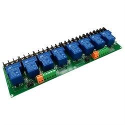 8-канальный релейный модуль 30А с изоляцией оптопары, 5 в 12 В 24 В, поддерживает триггерный триггер с высоким и низким уровнем триггера для умно...