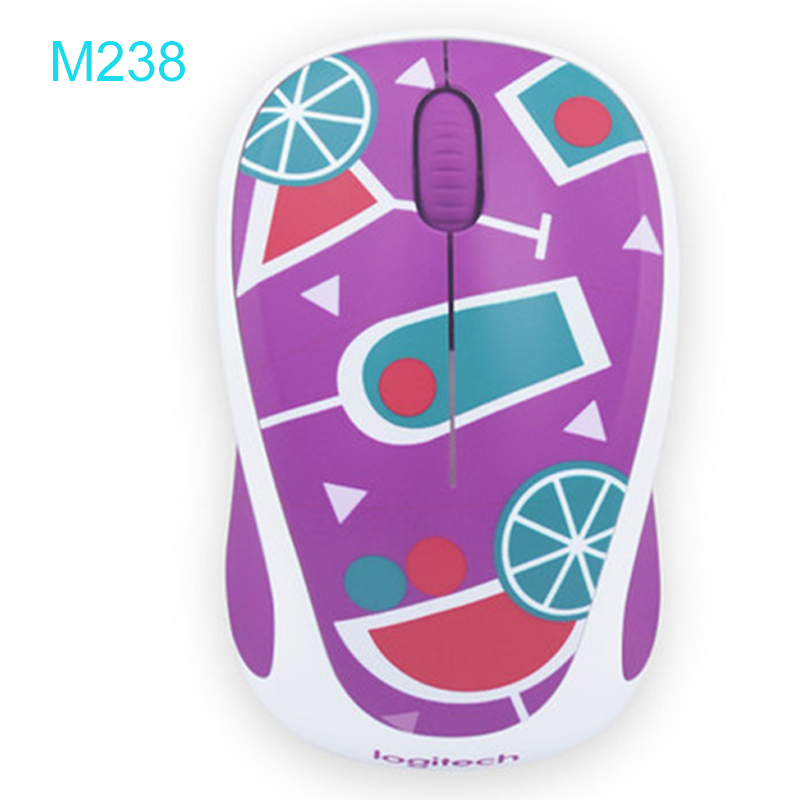 Logitech M238 2.4G Wireless Gaming Mouse with Cute Pictures 1000pdi for Young Girl/Boy Support Official Verification logitech g403 prodigy wireless gaming mouse with high performance gaming sensor