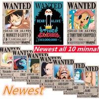 Новый один кусок хотел плакат аниме вокруг плакат стены стикеры 10 членов включают Jinbe большой размер плакаты jimbei хотел
