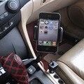 Universal 360 Rotación Titular de Cargador de Coche de Doble Puerto Usb 2 encendedor de cigarrillos soporte del teléfono celular para iphone 7 for samsung S7edge