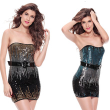 Sexy women dresses ropa interior mujer beading strapless night club wear bodycon dress women