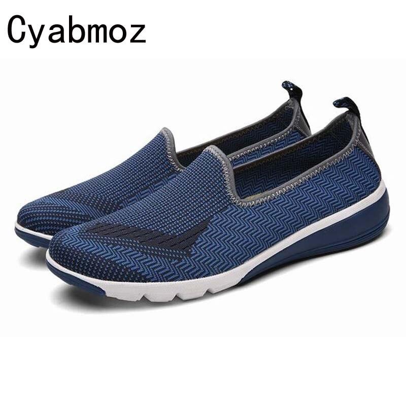Flats on Respirável Blue Loafers De Malha Homens Confortáveis red 2017 Sapatos Masculinos Chaussure Moda Casuais Nova Dos Slip Aérea Verão PRAWawxq