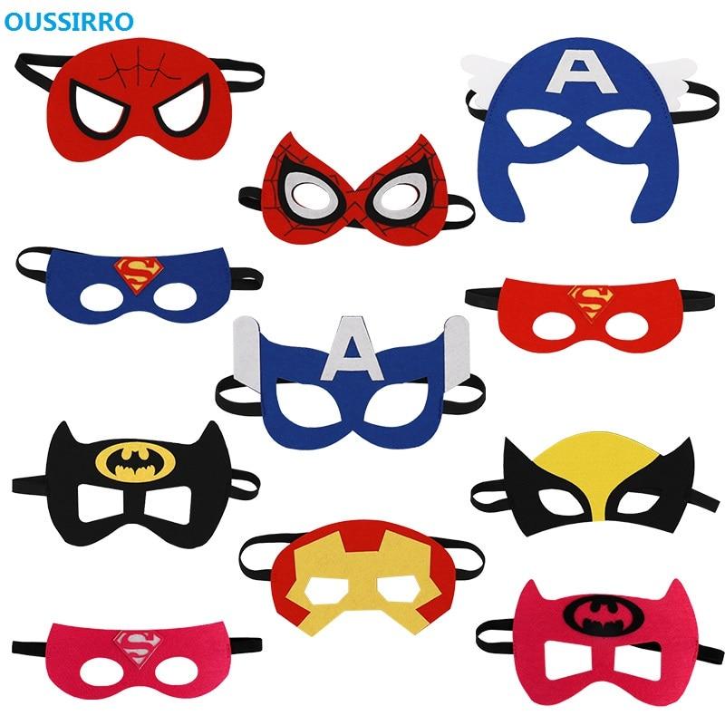 11 Teile/satz Nette Super Hero Party Maske Kinder Baby Junge Mädchen Phantasie Kleid Kostüm Cool Dekorieren Heißer Heros Maskerade Auge Maske