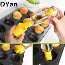 Magic Kitchen Basting Brushes BBQ Bakeware Tools High Temperature Resistant With Oil Bottle Silicone Brushes A145