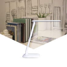 FANTLUX Touch LED desk light Adjustable table lamp Eye Protection Foldable book reading light Dimmable office flexible lamp arm
