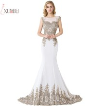 Robe de Mariage 2019 Sleeveless Applique Mermaid Wedding Dress Bridal Gown Vestido De Noiva