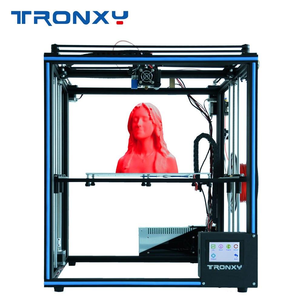 Tronxy X5SA 3D Impressora DIY Kit com Suporte Touch Screen Auto Nivelamento Retomar Impressão Heatbed Filamento Correr Para Fora De Detecção
