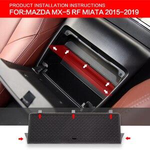 Image 2 - Smabee כפפת תיבת אוטומטי אחסון מרווח עבור מאזדה MX 5 RF מיאטה 2015 2019 MX5 אחסון קונסולת Shuffle תיבת מרכזי אחסון תיבה